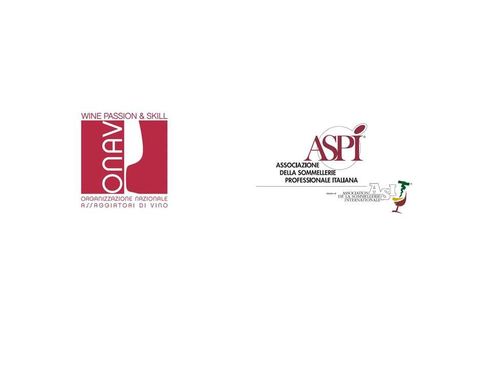 ASPI e ONAV:  Per la prima volta unite l'anima dell'Assaggiatore e del Sommelier